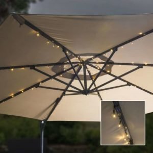 Solar led parasol lighting