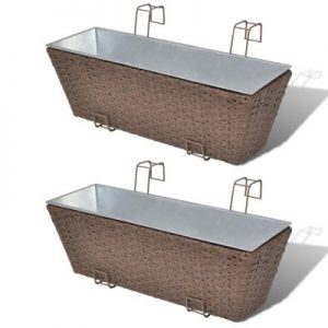 balcony rattan planter brown